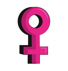 Female gender symbol vector