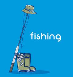 fishing sport cartoon vector image