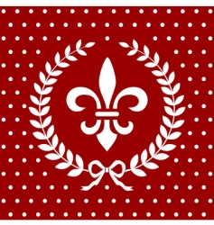 Fleur-de-Lis background vector
