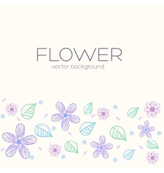Flower background concept vector
