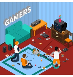 Game Gadgets Isometric Template vector