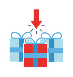 gift boxes download arrow online shopping vector image