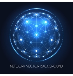 Globe network sphere connection concept vector