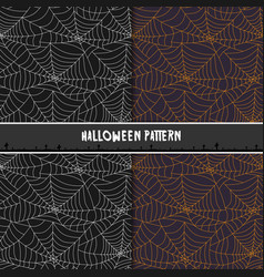 halloween spider web seamless pattern design for vector image