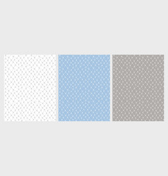 hand drawn lace mesh pattern set vector image