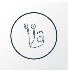 headphone icon line symbol premium quality vector image