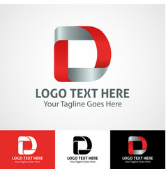 Hi-tech trendy initial icon logo d vector