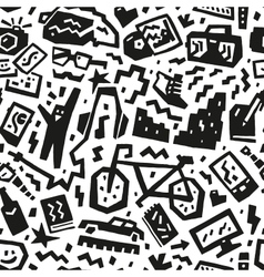 hipsters things - seamless background vector image