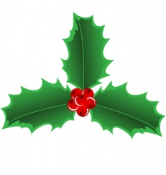 holly border vector image