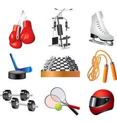 Icons sport items vector