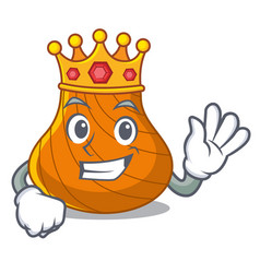 King hard shell mascot cartoon vector