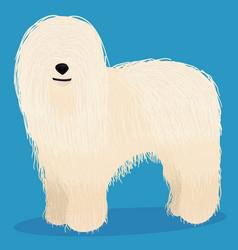 Komondor dog cartoon vector