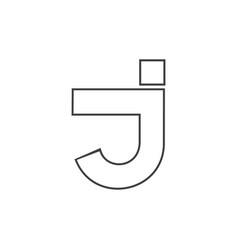 letter j simple geometric line logo vector image