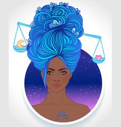 Libra astrological sign vector