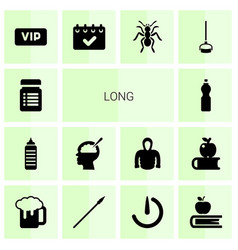 Long icons vector