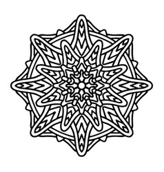 mandala for henna mehndi tattoo decoration vector image