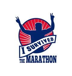 Marathon runner i survived vector