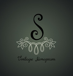 Monogram design vector