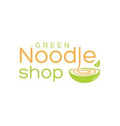 natural noodle logo vector image