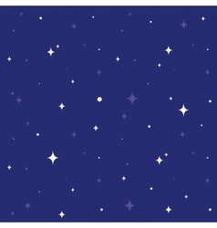 Night sky seamless cartoon pattern vector image