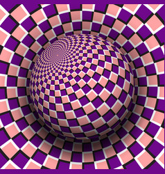 Optical illusion purple pink vector