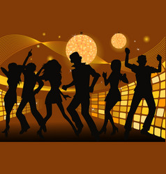 partying people vector image