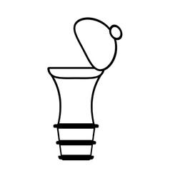 Pepper mill shaker kitchen outline vector