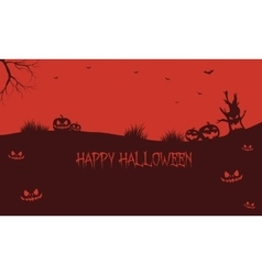 Pumpkins backgrounds Halloween silhouette vector image vector image