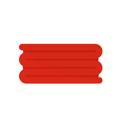red big towel icon flat style vector image