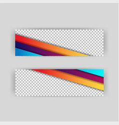 Set banner background template with modern shape vector