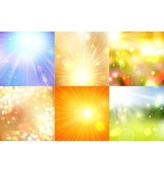 Set summer shining magical background vector