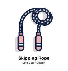 Skipping rope line color vector