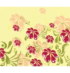 Spring Summer colorful flower background vector