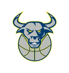 Texas Longhorn Bull Head Basketball vector image