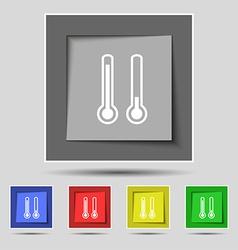 Thermometer temperature icon sign on original five vector