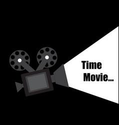 Time movie design vector