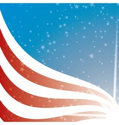 United States Flag background vector image