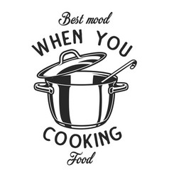 vintage monochrome kitchen utensil label vector image