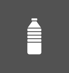 water bottle icon on dark background vector image