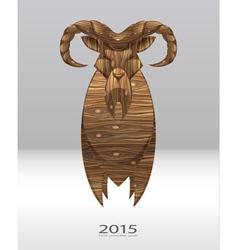 wooden goat vector image