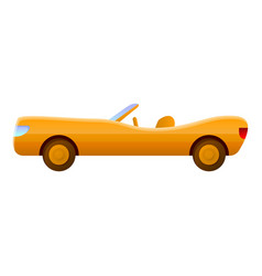 Yellow luxury cabriolet icon cartoon style vector