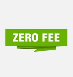 Zero fee vector