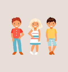 fashion kids vector image vector image