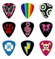 Guitar pick or plectrum vector