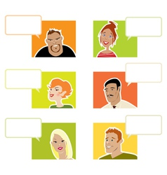 people with dialogue balloons vector image vector image