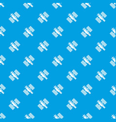 Space satellite pattern seamless blue vector