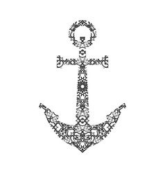 Abstract Anchor Silhouette with Pattern vector image