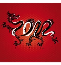 Abstract new year dragon card vector