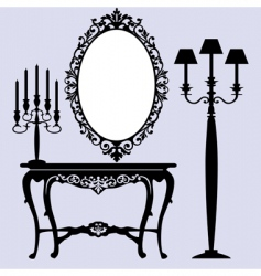 antique furniture vector image vector image