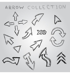 Arrow sketch collection element for you design vector image
